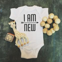 I AM NEW Onesie: Onesie, Gift Ideas, Bebe, Baby Baby, Products, Baby Boy, Baby Gift, Kid, I Am