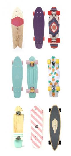 I know these aren't long boards but I think they're pretty. :): Cool Skateboard, Penny Skateboard, Skateboard Design