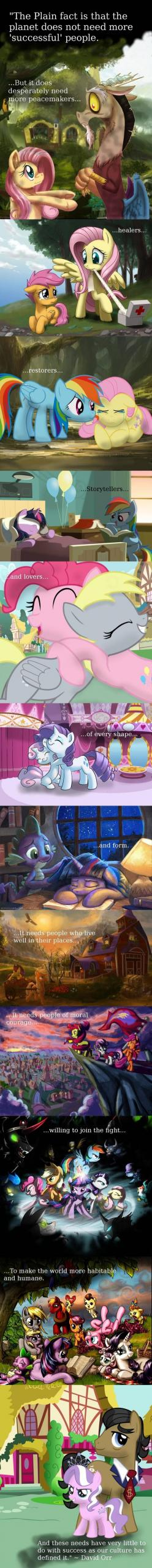 Inspiring quote told in My Little Pony fanart - via reddit - yes i know it's my little pony but this is actually cool: Inspirational Quote, Mylittlepony, Pony Fanart, Pegasister, Quote Told, My Little Pony, Mlp