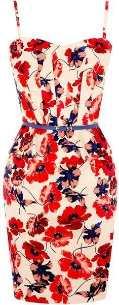Just a lovely floral print dress. Absolutely wonderful. Pair it with stacked rings and a casual stiletto. I like the idea of a top bun with this as well.: Oasis Poppy, Fashion, Summer Dress, Style, Dresses, Poppies