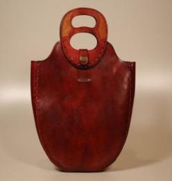 Karras leather, artisanal bags, the double handle and shape are interesting, unusual, and there is a sense that these will last and wear well: Picture, Bag, Wallet