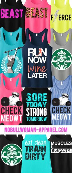 Look Great and Motivate with New #Workout Tanks. Pick ANY 3 and save 15%. Only $63.95! Click here to see them all http://www.nobullwoman-apparel.com/collections/sale-special-deals/products/3-workout-fitness-tank-tops-15-off-bundle-workout: Running Shoes N