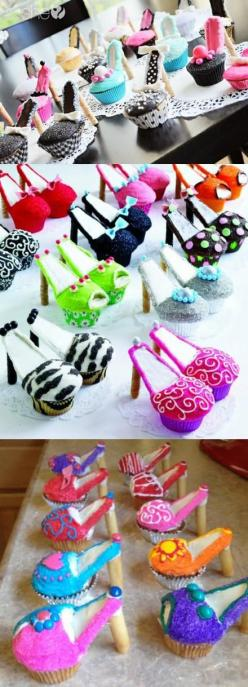 My 2 favorites - shoes & cupcakes - I'm in heaven!!: Shoes, High Heel Cupcakes, Sweet, Highheel, Food, Cup Cake, Shoe Cupcakes, High Heels, Party Ideas
