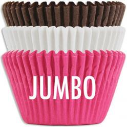 NEW! Jumbo Neapolitan Baking Cup Stack from Layer Cake Shop!  Large 2-1/2 x 1-7/8 size!  #baking #giant #cupcake #muffin #pink #brown #white: Cup Cakes, Jumbo Neapolitan, Cake Shop, Neapolitan Baking