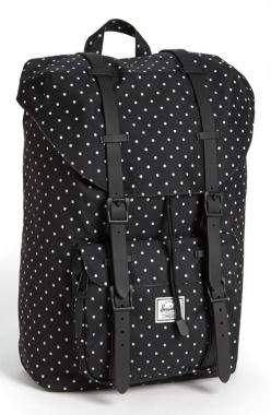Polka Dot Black & White Herschel Supply Co Backpack: Backpacks, Polka Dots, Handbags, Polka Dot Backpack, Accessories, Backpack Dots