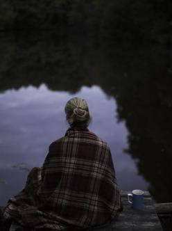 Quietly still...: Picture, Plaid, Coffee, Fall, Lake, Things, Morning