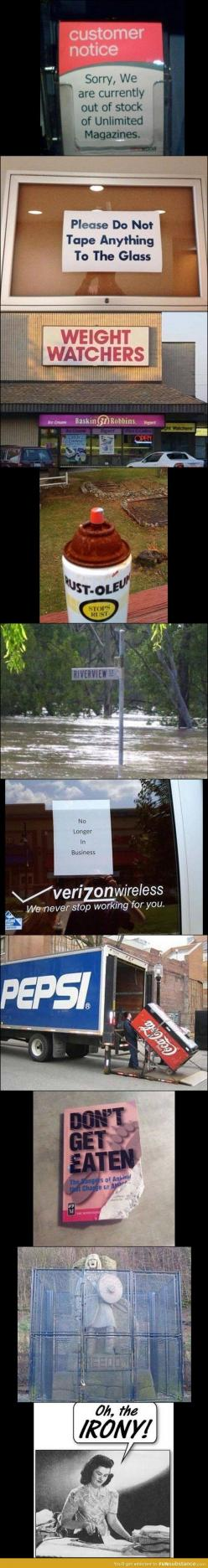 Read them very carefully!!!  Gotta love everyday #irony Makes ya wonder if they meant to do that ;): Giggle, Funny Things, Funny Pics, Ironic Photo, Funny D, Funny Stuff, So Funny, Funny Signs Fails