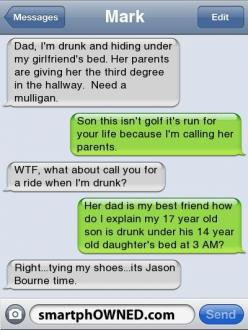 reading this in class and trying not to laugh out loud..: Funny Dad, Funny Parents Text, Dads And Kids Funny, Funnies Texts, Dad Text, Funny Auto Correct, Funny Autocorrect Text