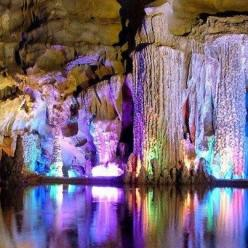 Reed Flute Cave, China - 50 Of The Most Beautiful Places in the World (Part 5): Reed Flute, Reedflute, Nature, Color, Caves, Beautiful Places, Travel, China