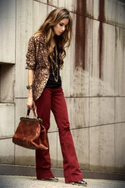 """Ruby Red Marisa Pants, Brown Romwe Blazers 