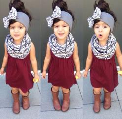 Scarf, headband, boots.: Baby Girl Fall Outfit, Girl Toddler Outfit, Cute Little Girl Outfit, Infinity Scarf, Head Band, Toddler Fall Outfit