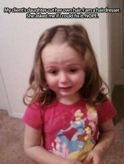 She so sad... And so screwed!!!: Giggle, Daughter, Funny Stuff, Funnies, Poor Thing, Haircut, Kids