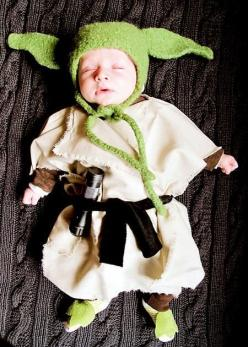 Sleeping, he is: Babies, Idea, Halloween Costumes, Baby Yoda, Star Wars, Baby Costume, Yoda Baby, Starwars, Kid