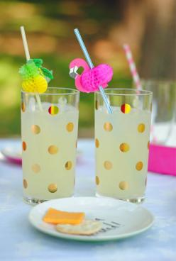Southern Curls & Pearls: Summer Entertaining with Kate Spade: Southern Curls, Summer Entertaining, Kate Spade Cup, Kate Spade Glasses, Dots Highball, Curls Pearls, Gold Dots, Kate Spade Kitchen Decor