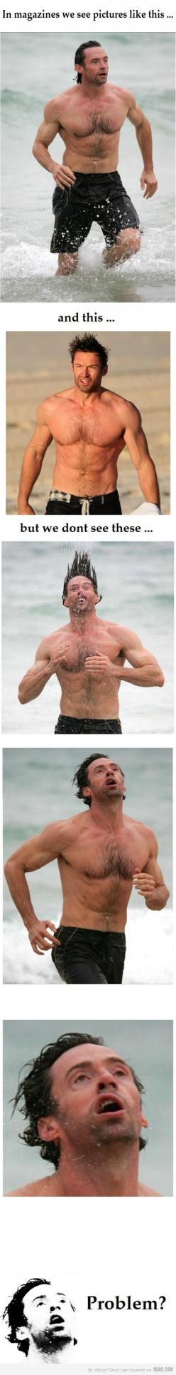 Still badass ( HAHAHAHAAH ): Picture, Giggle, Cant, So True, Funny Stuff, Funnies, Hugh Jackman, So Funny