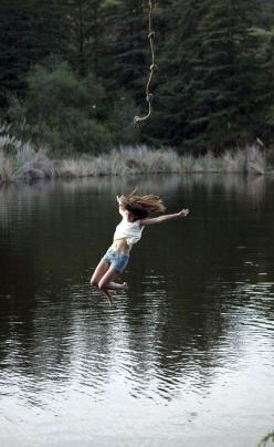 summer fun...jump into a lake on a rope, randomly: Bucket List, Adventure, Life, Lake, Things, Summer Fun, Summertime, Photo