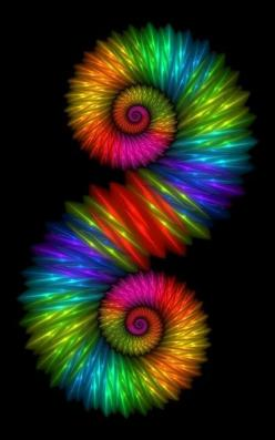 Swirling rainbow colors.  Go to www.YourTravelVideos.com or just click on photo for home videos and much more on sites like this.: Colour, Beautiful Colors, Color, Colorful, Fractal Art, Rainbow Colors