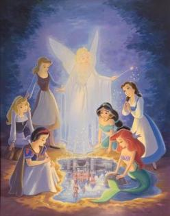 .The first 6 princess - Snow White and the Seven Dwarfs 1937 the original Disney princess ~~~ Cinderella 1950 ~~~ Aurora - Sleeping Beauty 1959 ~~~ Ariel - The Little Mermaid 1989 ~~~ Belle - Beauty and the Beast 1991 ~~~ Jasmine - Aladdin 1992: Disney St