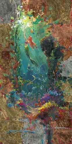 The Little Mermaid // Disney: Ariel Concept Art, Little Mermaids, Art Little Mermaid, Disney Concept Art Ariel, Ariel The Little Mermaid Art, Mermaid Picture, Canvas, Ariel Art, Disney Little Mermaid Art