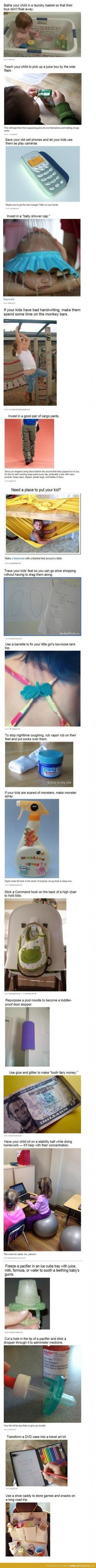These are such good ideas!: Mom Hack, Lifehack, Parent Life Hack, Good Idea, Parent Hack, Parenting Hack, Life Hacks