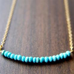 Turquoise Rondelle Necklace 14k Gold by friedasophie on Etsy, $29.00: Idea, Turquoise Rondelle, 14K Gold, Gold Necklaces, Rondelle Gold, Jewelry, Beauty