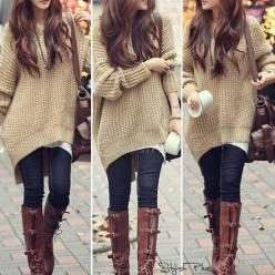 Want this sweater, different color: Style, Fall Fashion, Fall Outfit, Oversized Sweaters, Big Sweater, Fall Winter