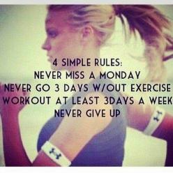 What better day to start a new program than today? :) #totalbody #transformation #skinnyms: Simple Rules, Fitness Inspiration, Exercise, Work Out, Fitness Motivation, Health, Never Give Up, Workout