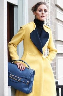 Yellow coat with blue accessories ....: Oliviapalermo, Girls, Girl Korea, Fashion, Palermo Style, Olivia Palermo, Coat