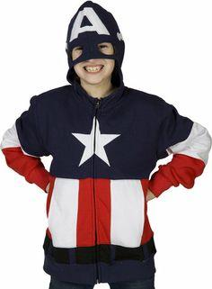 Youth Captain America Costume Hoodie