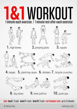 100 no-equipment workouts - Imgur. done a few already, love them! Get the rest from here in one PDF.. to rule them all:  http://neilarey.com/100-no-equipment-workouts.html or individually from here: http://neilarey.com/workouts.html: Neila Rey, 100 Workou