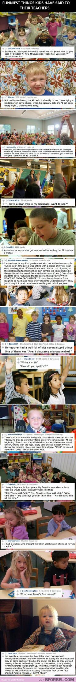 13 Hilarious Things Kids Said To Their Teachers…: Funny Teacher, Giggle, Funny Things, Funny Pictures, Funny Stuff, Things Kids, So Funny, Funny Kids
