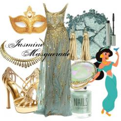 """Jasmine Masquerade"" by amarie104 on Polyvore: Masquerade Halloween Costume, Jasmine, Masquerade Ball Gown, Mascarade Dress, Disney Bound, Disney Prom Dress"