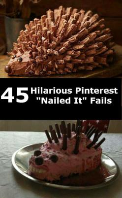 "45 Hilarious Pinterest ""Nailed It"" Fails...makes me feel better when it actually turns out like the pin...Pinterest is not that easy!: Nailed It Fails Funny, Cake Fails, Food, Fails Funny Cakes, Fails Nailed, Dr. Who, 50 People"