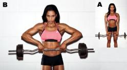 "5 Moves for Strong, Sexy Shoulders.  ez bar upright row rear delt flye side plank with a ""t"" raise dumbbell ""L"" raise overhead dumbbell reciprocating press: Fitness Upper, Shoulder Exercise, Fitness Motivator Workouts, Fitnessssss 3, Healt"