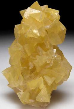 AF166 - Smithsonite $ 2500 SOLD Tsumeb, Namibia small cabinet - 8 x 5.5 x 3 cm -  Cluster of large light yellow Smithsonite crystals. Crystals reach 2cm in size, no damage and no matrix.: Rocks Gems Crystals, Gems Stones Rocks, Crystals Minerals, Crystals