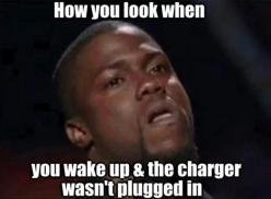 And left the charger at home bc you THOUGHT it was plugged in all night lol...: