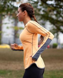 ATTENTION LADIES : notice how this model is shown sporting Lululemon appeal while RUNNING? That's because the only time it is appropriate to wear Lululemon apparel (or any brand of yoga/active wear) in public is when you are exercising/working out. It