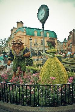 awesome Beauty and the Beast garden sculptures: Picture, Beautyandthebeast Disneyland, Disney Beautyandthebeast, Disney Princess, Beauty And The Beast, Disney Flower, Place, Beast Garden, Disney Worlds