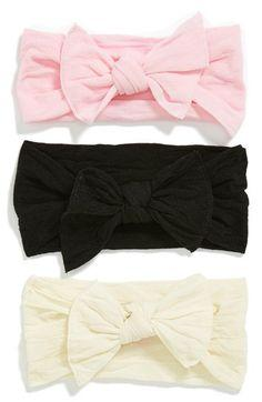 Baby Bling Bow Stretch Headband (3-Pack) (Baby Girls) (Online Only) | Nordstrom