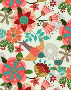 beautiful pattern by trinity designs: Doodle, Floral Illustration, Print, Floral Pattern