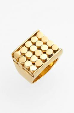 Can't wait to wear this chunky gold cocktail ring.: Cocktail Rings, Nordstrom Com, Cie Geo, Gold Rings, Geo Block, Block Fashion, Cocktails, Textured Cocktail