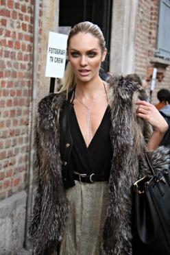 Candice Swanepoel  all cheekbones and fur after Blumarine, Milano, September 2011: Fashion, Inspiration, Candice Swanepoel, Street Style, Street Styles, Candiceswanepoel, Fur, Beauty