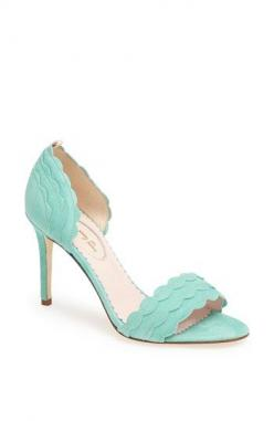 Check out this gorgeous mint color suede SJP 'Bobbie' Sandal (Nordstrom Exclusive) for $365. Protect your leather investment with WhooHoo Clean Leather Care products. Trusted by master cobblers.: Shoes, Shoe Collection, Nordstrom, Fashion, Style,