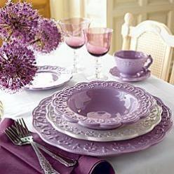 Classic Lace Dinnerware & Accessories: Accessories Lavender Cottage, Place Setting, Classic Lace, Accessories Purple, Lace Design, Dinnerware Accessories