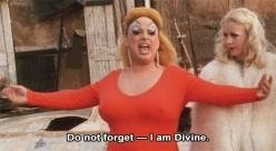 """Do not forget — I am Divine."" - Divine (as Divine/Babs Johnson). John Waters' Pink Flamingos, 1972: Babsjohnson Johnwaters, Pink Flamingos, Pinkflamingos Maryvivianpearce, Divine Babsjohnson, Johnwaters Pinkflamingos, 1972 Divine, John Waters, Divine Bab"