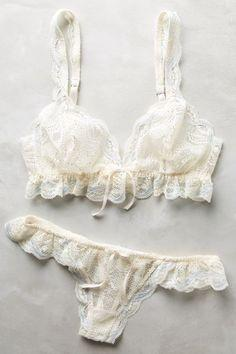 Eberjey Ruffled Thong - anthropologie.com #anthrofave