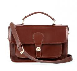 """every girl needs a vintage """"legacy"""" style bag like this - they go with every outfit and never go out of style (literally, my grandma used to carry this forever ago): Style, Purse, Messenger Bags, Dark Brown, Brown Leather, Britt Messenger, Society"""