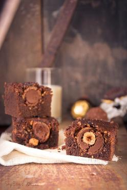 Ferrero rocher brownies - Oh wow!: Brownie Recipes, Brownies Recipes, Brownies Chocolate, Chocolate Overthetop, Rocher Brownies, Chocolate Trifle, Ferrero Rocher, Blue S Kitchen