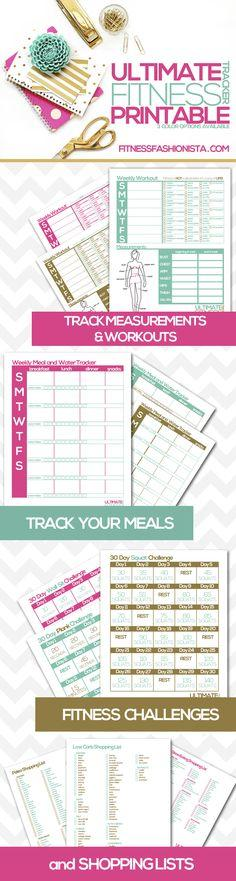 Free Ultimate Fitness Tracker Printables from Fitness Fashionista