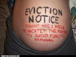 Get ready, MoMo!! Your mommy is about ready to force you out of your comfy abode!! LOL!!: Picture, Photo Ideas, Pregnancy, Funny Stuff, Funnies, Humor, Eviction Notice, Baby Stuff